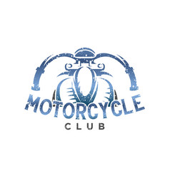 motorcycle club vintage logo design inspiration vector image