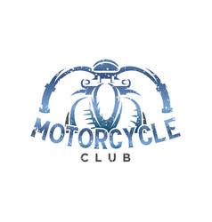 motorcycle club vintage logo design inspiration vector image