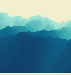 mountain landscape mountainous terrain abstract vector image