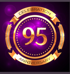 Ninety five years anniversary celebration with vector