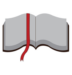 open book with white pages and red page marker on vector image