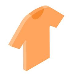 Orange tshirt icon isometric style vector