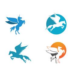pegasus logo template icon vector image