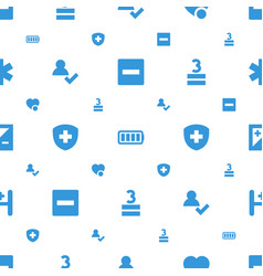 Plus icons pattern seamless white background vector