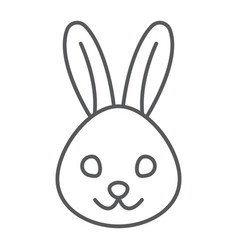rabbit thin line icon animal and zoo bunny sign vector image