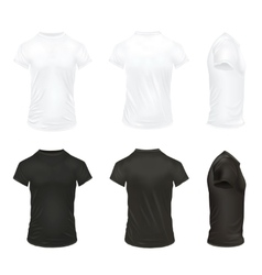 Realistic T Shirt Icon Set vector