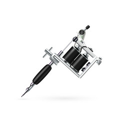 realistic tattoo machine vector image