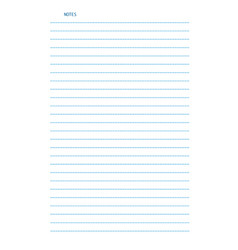 sheet of lined a4 size paper for notes isolated vector image
