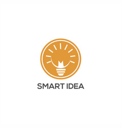 smart idea lamp logo vector image