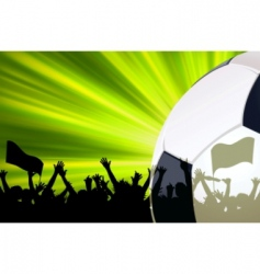 soccer poster template vector image vector image