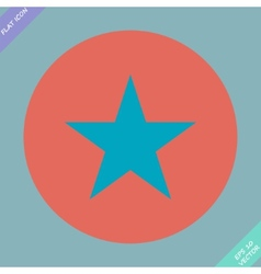 star icon Flat design style vector image