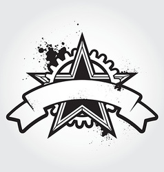 stenci black star vector image