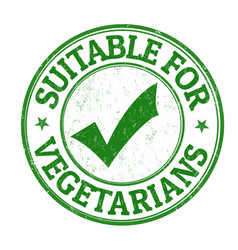 Suitable for vegetarians grunge rubber stamp vector