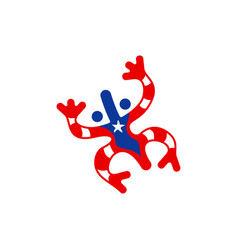 taino coqui frog symbol vector image