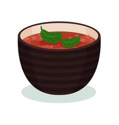 Traditional indian cuisine dish in a bowl vector
