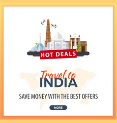 Travel to india travel template banners for vector