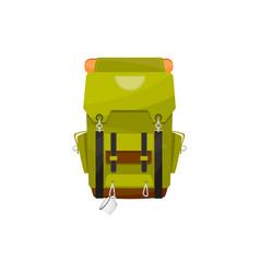 trekking backpack with mug isolated rucksack icon vector image