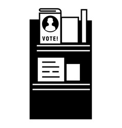 vote wood stand icon simple style vector image