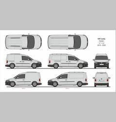 Vw caddy kasten l1 l2 2015-present vector