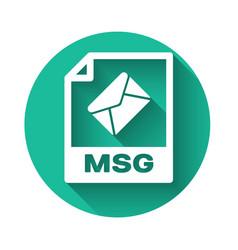 White msg file document icon download msg button vector
