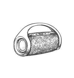wireless speaker digital gadget monochrome vector image
