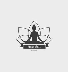 Yoga class logo vector