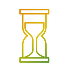 business hour glass clock time vector image