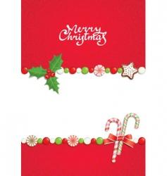 Christmas postal vector image vector image