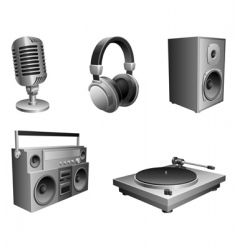 Music equipment vector