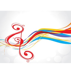 rainbow music note background vector image