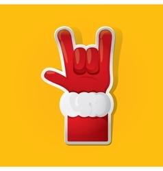 Santa Claus hand rock n roll icon vector image vector image