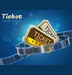 ticket movie cinema object vector image