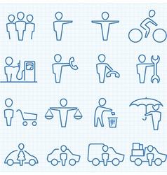 Universal People GUI icons set vector image vector image