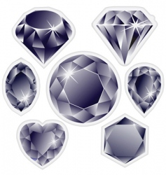 Diamonds labels vector