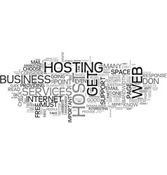 what you should know about your web host text vector image vector image