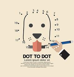 Dot to Dot Animal Games vector image