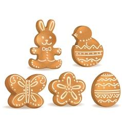 Easter cookies vector image vector image