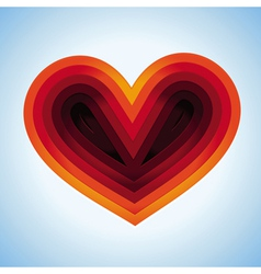 heart shape made from paper vector image