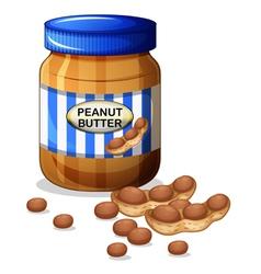 A jar of peanut butter vector image