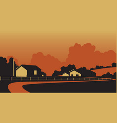 country farmstead vector image vector image
