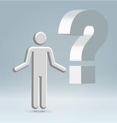 question man vector image vector image