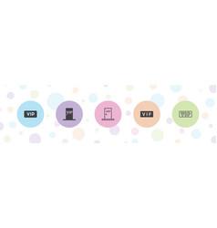 5 membership icons vector