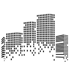 abstact city of skyscrapers vector image