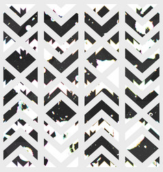 abstract geometric pattern with grunge texture vector image