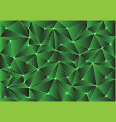 abstract green glossy polygon pattern vector image