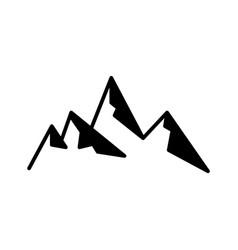 abstract mountain rock black flat icon vector image