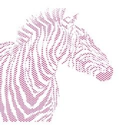 Animal of red zebra striped vector