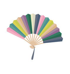 Asian fan colorfull hand traditional fan isolated vector