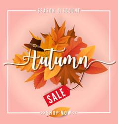 autumn sale sbanner background design vector image