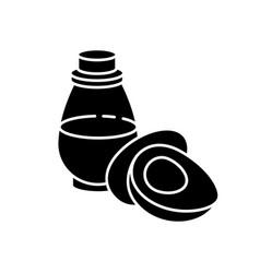 Avocado oil black glyph icon vector